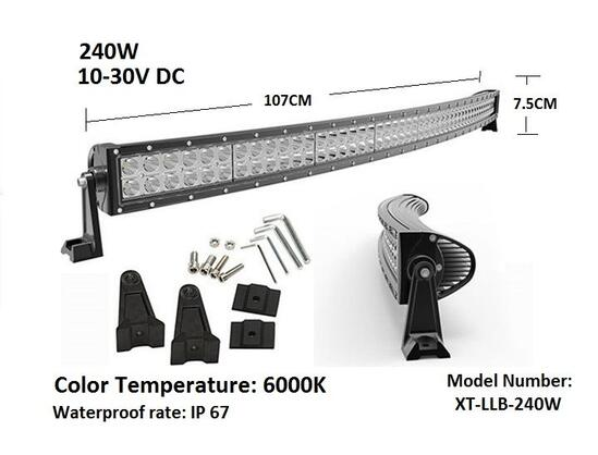 СУПЕР Мощен LED BAR 240W 107cm X 7.5cm ИЗВИТ